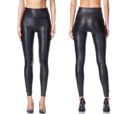 NEW SPANX READY TO WOW! 2437 SEXY FAUX LEATHER BLACK  LEGGING PANTS S M L XL
