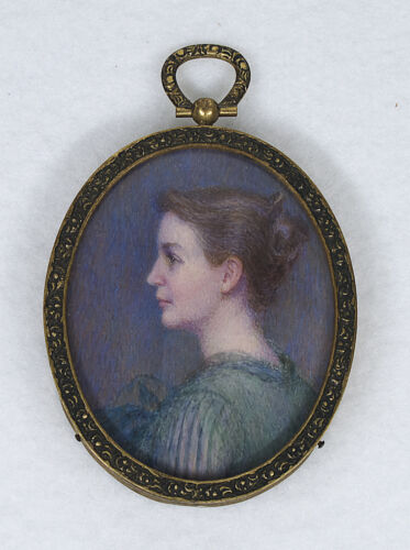 ANTIQUE HAND PAINTED MINIATURE by A.M ARCHAMBAULT (American,1856-1956)