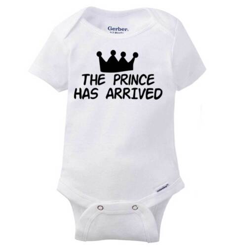 Prince Arrive Funny Baby Clothes | Cool Gift Idea Cute Shirt Gerber Onesies