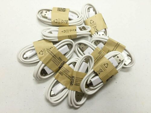 10-1000 Wholesale Lot White Micro USB Cable Charger Cord Samsung Galaxy S7 S6 S5