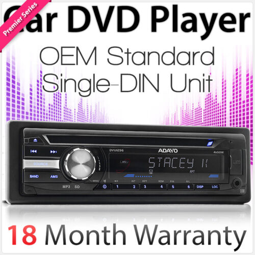 Single 1 DIN Car DVD Player Head Unit Player Stereo Radio USB MP3 AUX-In 52W TU