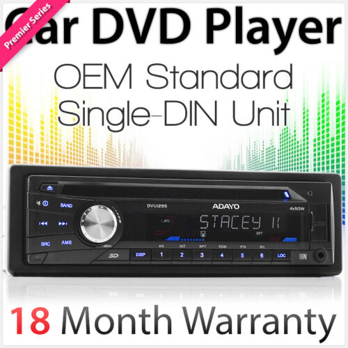 New OEM Single 1 DIN Car DVD Player Player AUX-In Stereo Radio USB MP3 SD CD TU