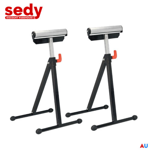 2//PK Roller Support Stand Steel Heavy Duty Adjustable Foldable Bench Saw-23144