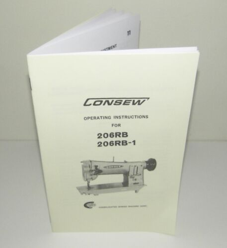 Consew 206RB 206RB-1 Sewing Machine Instruction Manual Reproduction