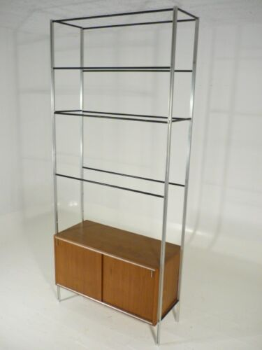 Vintage Mid Century Modern Hugh Acton Walnut Adjustable Storage/Shelf System