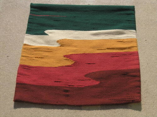 Vintage Modern Hand Woven Tapestry Waves Design 5 Colors 28x28 Inches