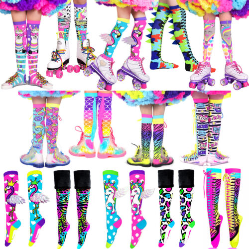 MADMIA SOCKS Girls + Adults Knee High Colorful Crazy Funky Cool Fun Lace up