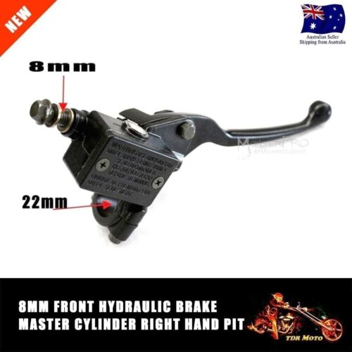 8mm Front Right Hydraulic Brake Master Lever Cylinder for 125cc Pit Dirt Bike