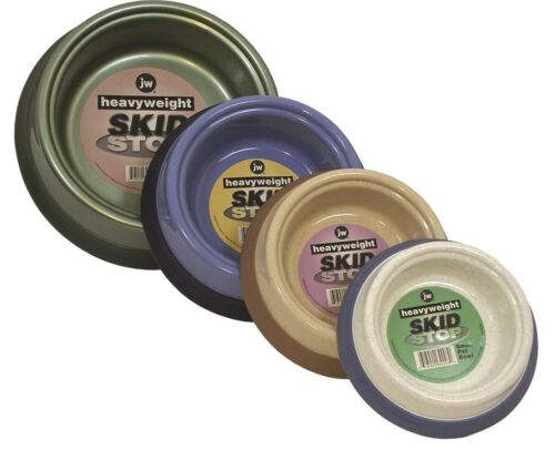 JW Pet Skid Stop Heavyweight Pet Bowls, Color Varies  (Free Shipping)