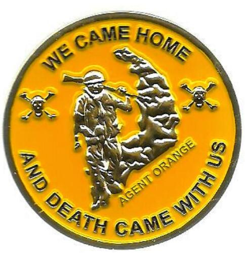 Agent Orange We Came Home and Death Came With Us Challenge CoinMarine Corps - 66531