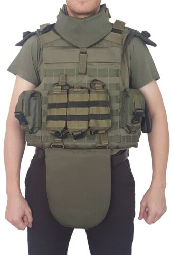 Full Body Armor Plate Carrier Vest III Grade protection MOLLE Kevlarr includedOther Current Field Gear - 36071