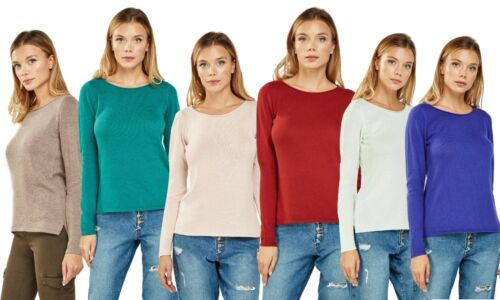 Ladies Ex Old Navy Spring Cotton Knitted Full Sleeve Colored Winter Jumper Tops