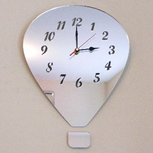 Hot Air Balloon Clock - Acrylic Mirror (Several Sizes Available)