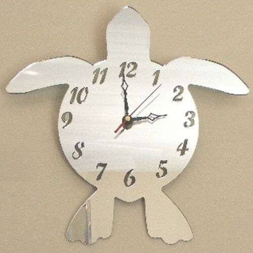 Turtle Clock - Acrylic Mirror (Several Sizes Available)