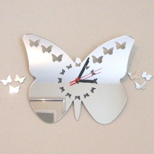 Butterflies out of Butterfly Digits Clock Acrylic Mirrors (Several Sizes Availab