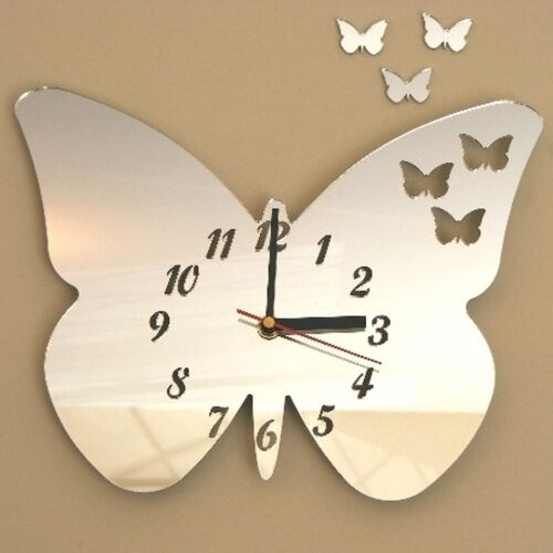 Butterflies out of Butterfly Clock Acrylic Mirrors (Several Sizes Available)