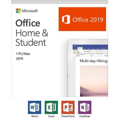 Office Home and Student 2019 Medialess Retail Box - Word Excel PowerPoint