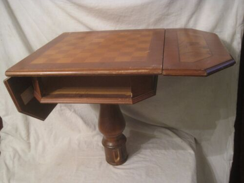 parts / restoration inlaid wood chess checkerboard game table Italian Italy