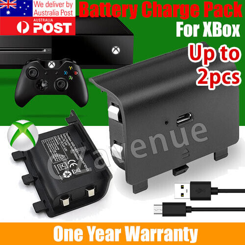 For Xbox One Style Battery Pack Controller Rechargeable Wireless USB 2400mAh