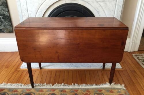 Antique CHERRY TABLE DROP LEAF  Early 1800's