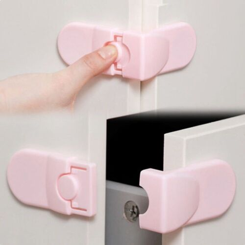 f00860e70ccff 2x pcs Kids Child Baby Pet Safety Lock Proof Door Cupboard Fridge Cabinet  Drawer