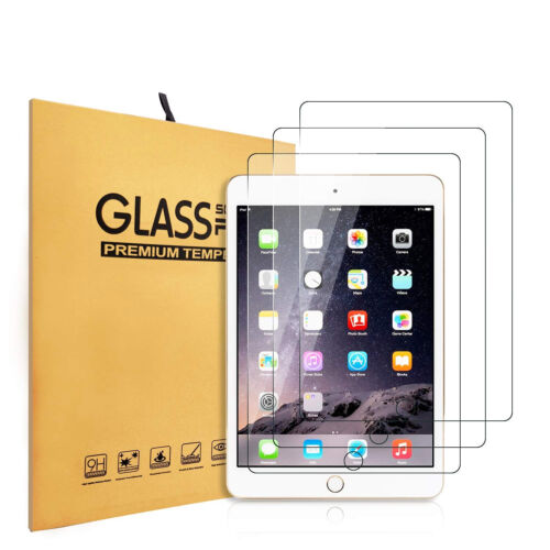 3 Pack TEMPERED GLASS Screen Protector for Apple iPad 9.7 2/3/4 2nd 3rd 4th Gen