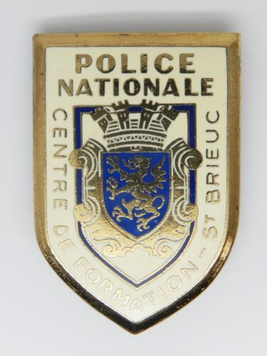INSIGNE POLICE - OBSOLETE - POLICE NATIONALE - CENTRE FORMATION ST BRIEUC