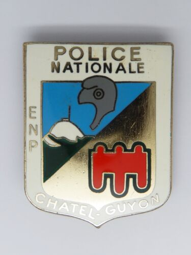 INSIGNE POLICE - OBSOLETE - POLICE NATIONALE CHATEL-GUYON
