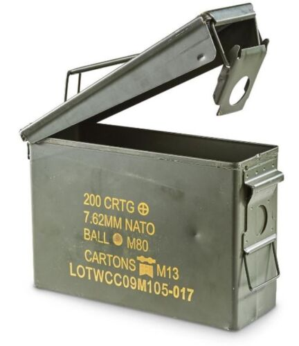 AMMO BOX TOOL CAN .30 CAL AMMUNITION BOX  STEEL FULLY SEALED EX MILITARY ARMYSurplus - 36075