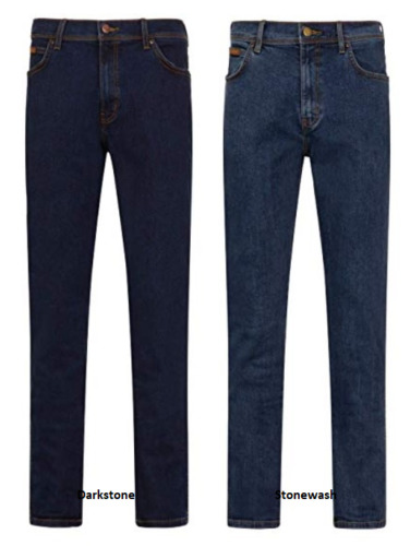 Mens Wrangler Iconic Straight Denim Stretch Jeans Regular Fit *FACTORY SECONDS*