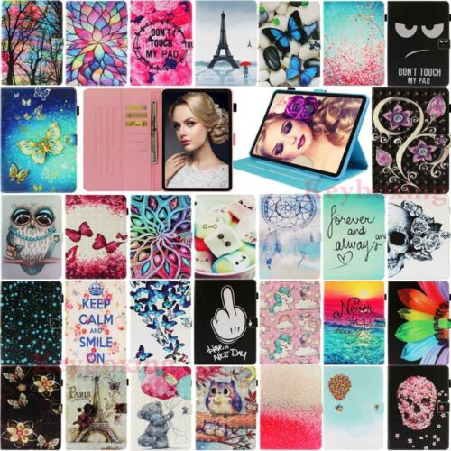 """For iPad 6th Gen 2018 Pro 11"""" 2 3 4th Mini Air 2 Flip Leather Stand Case Cover"""