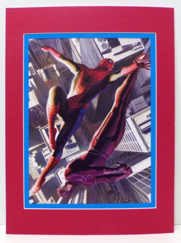 AMAZING SPIDER-MAN & DAREDEVIL PRINT PROFESSIONALLY MATTED Alex Ross art