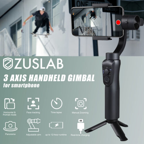 3-Axis Selfie Stick Handheld Gimbal Stabilizer & Tripod Mount For Smartphone