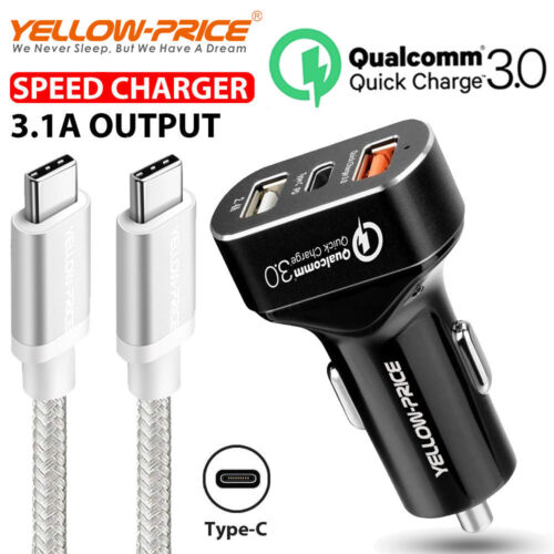 8.4A USB-C Car Charger PD Fast USB-C Charging Cable Type-C for 2018 iPad Pro Mac