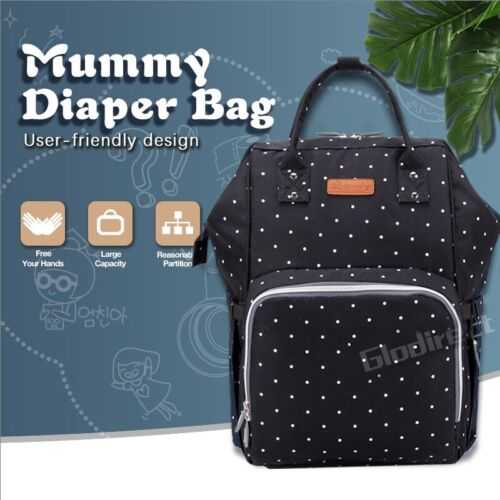 Multifunctional Nappy Luxury Backpack Baby Diaper Changing Bag Waterproof Mummy