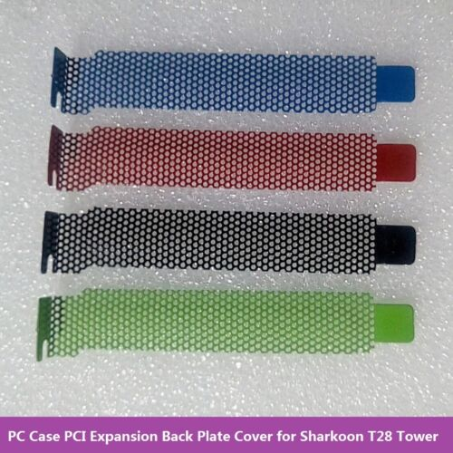 3pcs PC Case PCI Expansion Back Plate Cover Dust Filter for Sharkoon T28 Tower
