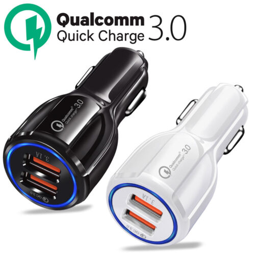 Adaptive Fast Rapid Car Charger For iPhone Samsung Galaxy S8 S9 S10 Plus Note8 9