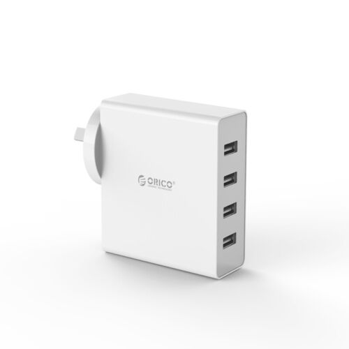 Orico DCW-4U 4 Port USB Wall Charger Samsung iPhone iPad HTC Mobile White