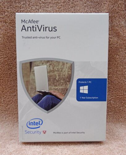 McAfee Antivirus 2016 1 PC / 1 Year Free Upgrade to 2018 NEW IN BOX