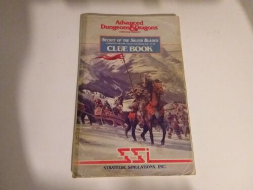 Advanced Dungeons and Dragons Secret Of The Silver Blades Clue Book Vintage