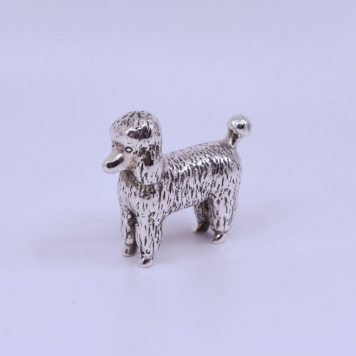 Lovely Sterling Silver Poodle Dog Paperweight figure pc, Hallmark Collette 925