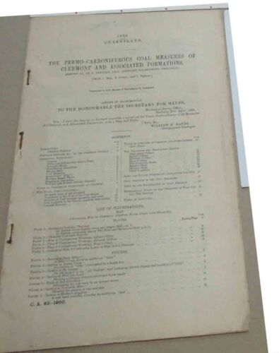 Clermont district.Report on Coal  1900
