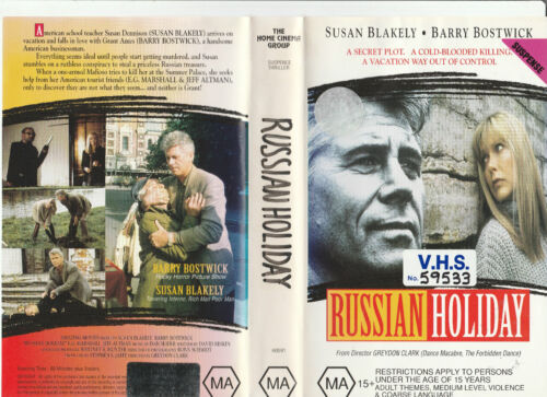 RUSSIAN HOLIDAY SUSAN BLAKELY BARRY BOSTWICK E. G. MARSHALL  RARE PAL VHS VIDEO