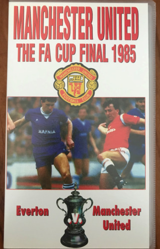MANCHESTER UNITED THE FA CUP FINAL 1985 EVERTON V MAN-U AS NEW PAL VHS VIDEO