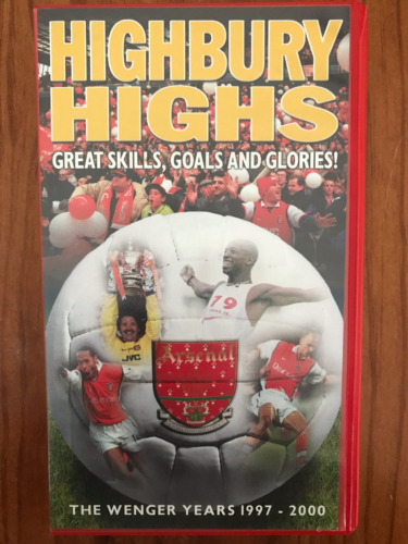HIGHBURY HIGHS THE WENGER YEARS 1997-2000 ARSENAL  FOOTBALL AS NEW PAL VHS VIDEO