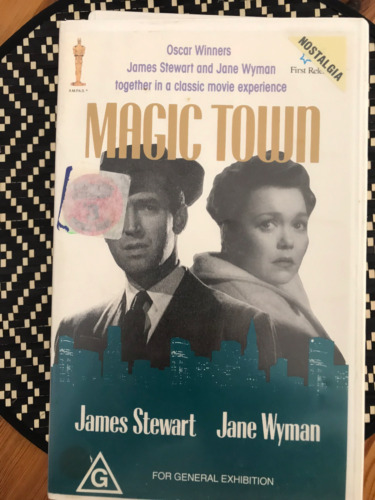 MAGIC TOWN JAMES STEWART JANE WYMAN  NOT A CHINESE COPY PAL VHS VIDEO