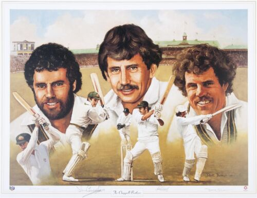 THE CHAPPELL BROTHERS~ HAND SIGNED  PRINT BY ALL THREE & ARTIST~ DAVE THOMAS