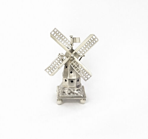 ANTIQUE SILVER 833 WINDMILL DUTCH MINIATURE FIGURINE HOLLAND NETHERLANDS VINTAGE