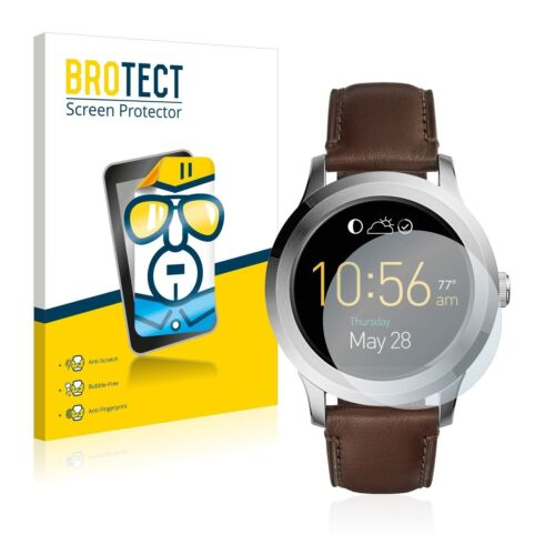 Fossil Q Founder 2.0, 2x BROTECT® HD-Clear Screen Protector Crystal-clear coated