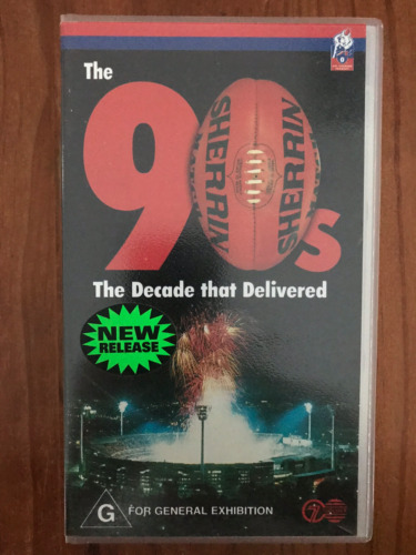 THE 90's THE DECADE THAT DELIVERED AFL FOOTBALL ORIGINAL AS NEW PAL VHS VIDEO